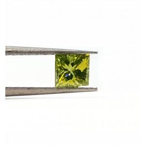 32pt. Princess cut Green color Irradiated, VS2 diamond
