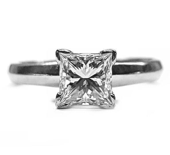 1ct. Princess Cut Diamond D VS1 GIA certified Engagement Ring