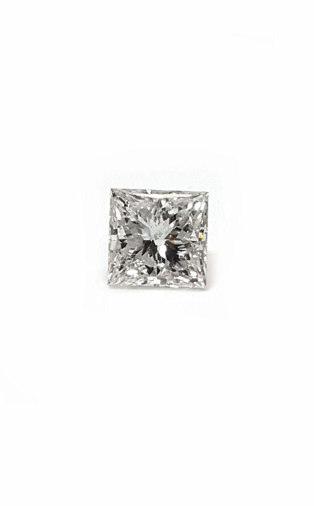 Princess Cut Diamond, 62pts. Natural Stone, G SI2 Quality GIA Report