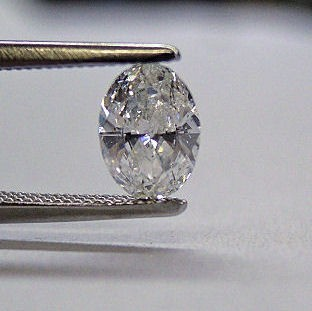 51pt. Oval diamond I SI2 certified.