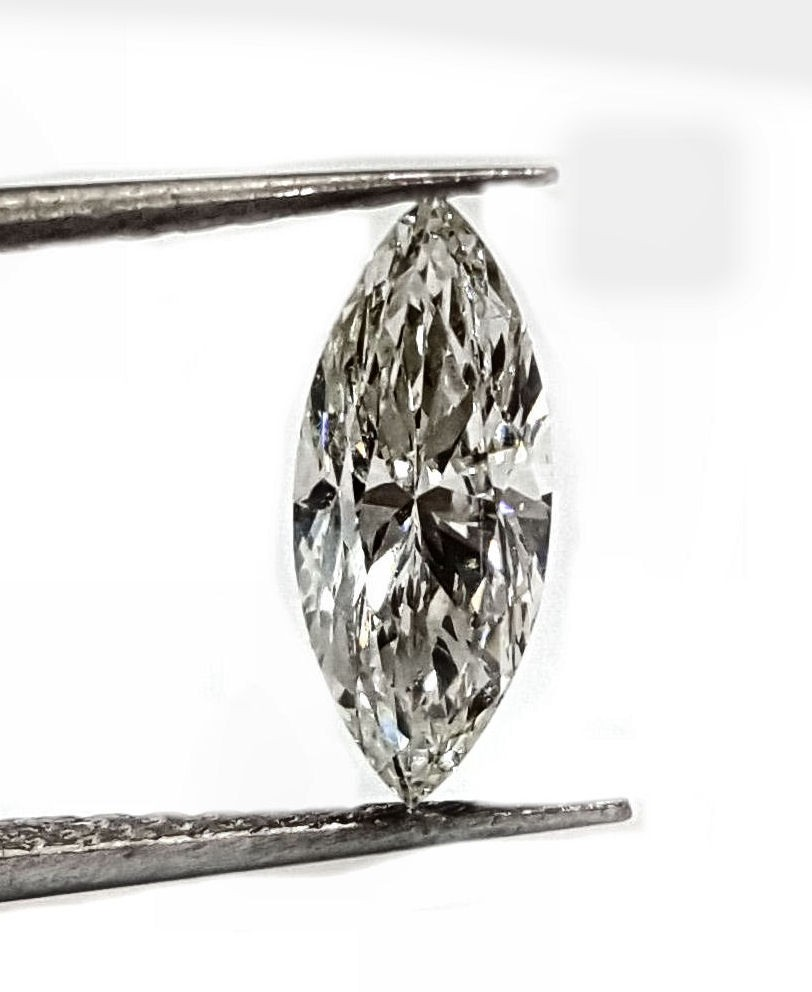67pt. J SI1 quality marquise diamond GIA certified