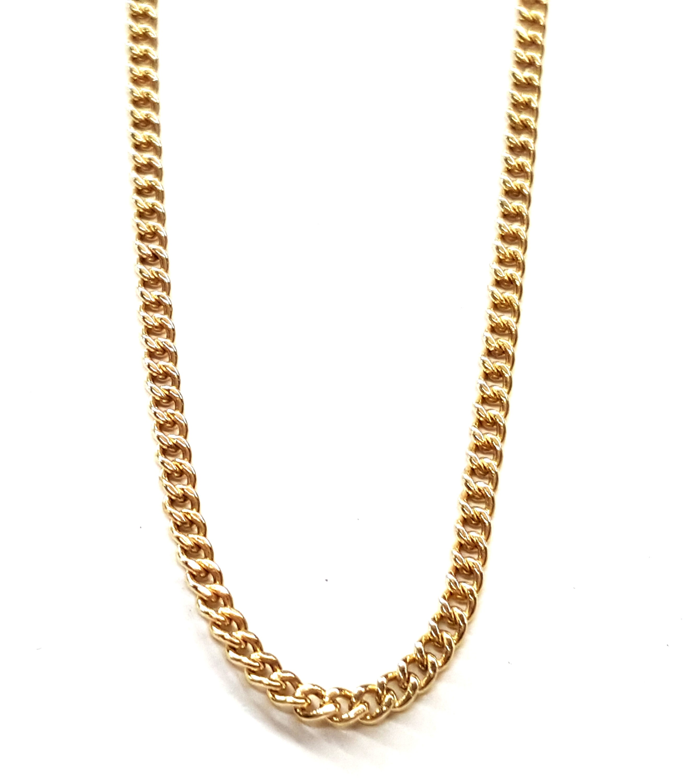 "Curb style link chain 21"" long 2mm wide"