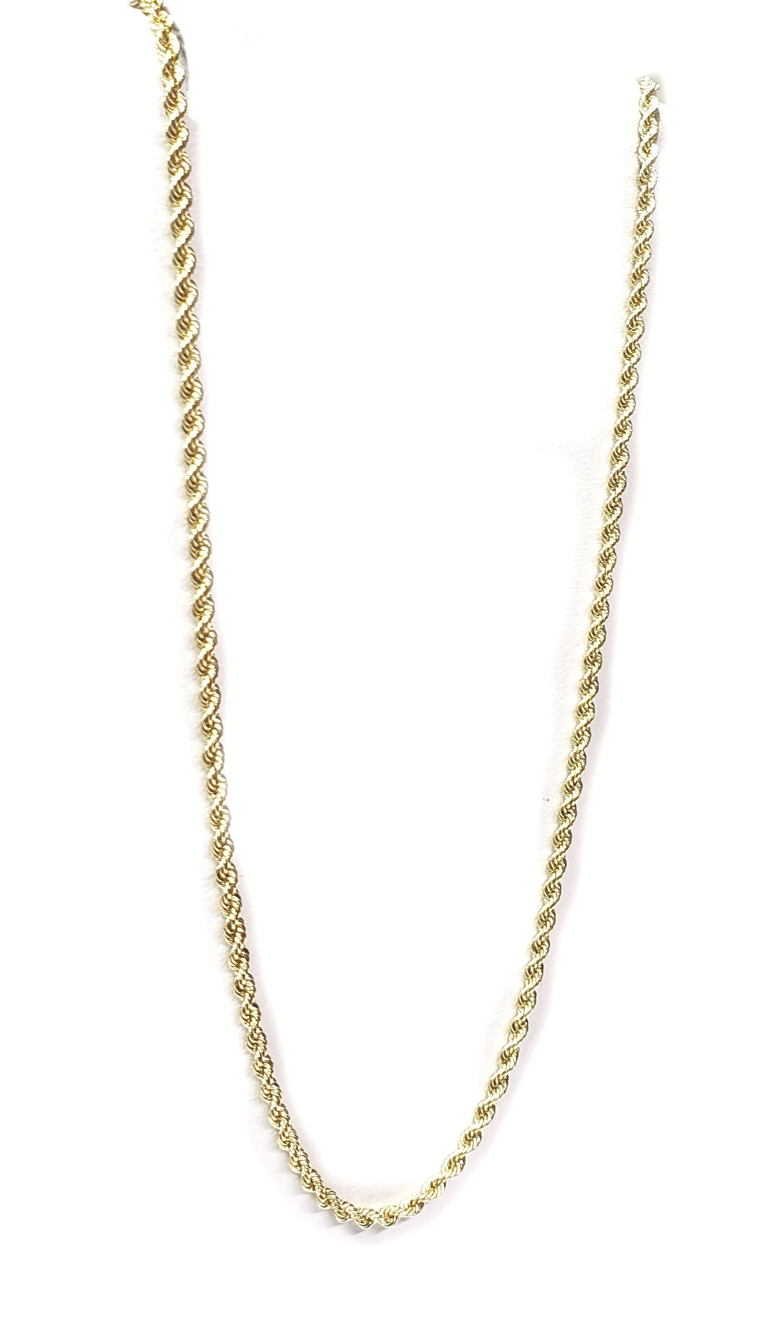 Rope Chain Neck Chain 1.5mm Wide in Assorted Lengths, 14kt Gold