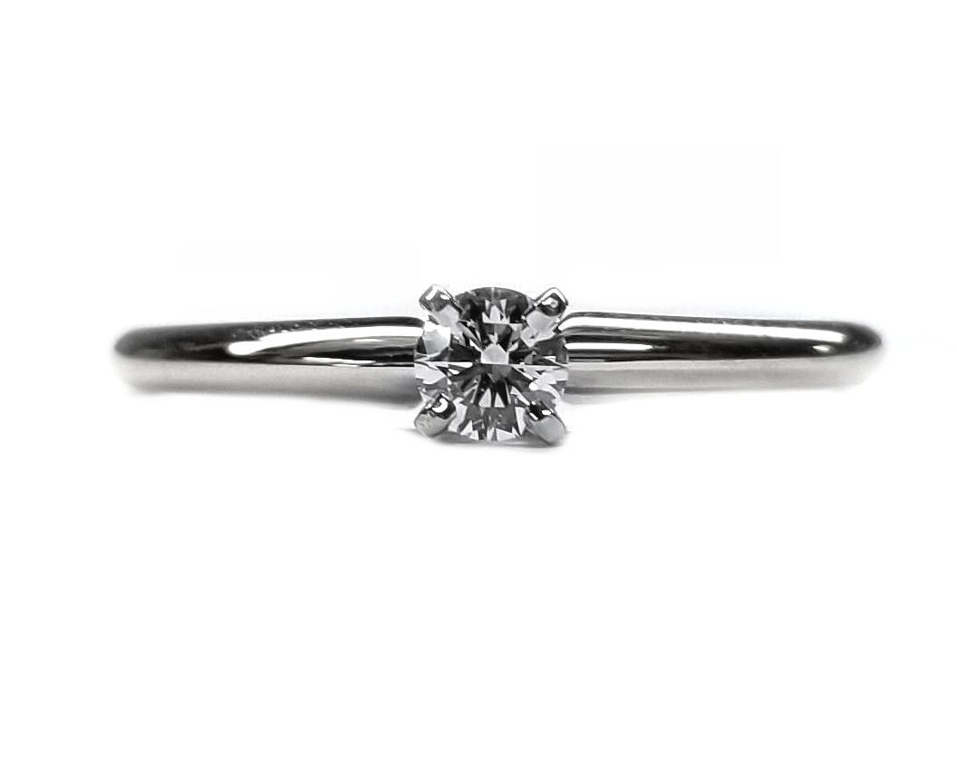 Ideal Cut Round Brilliant Cut Diamond solitaire engagement ring 20pts.