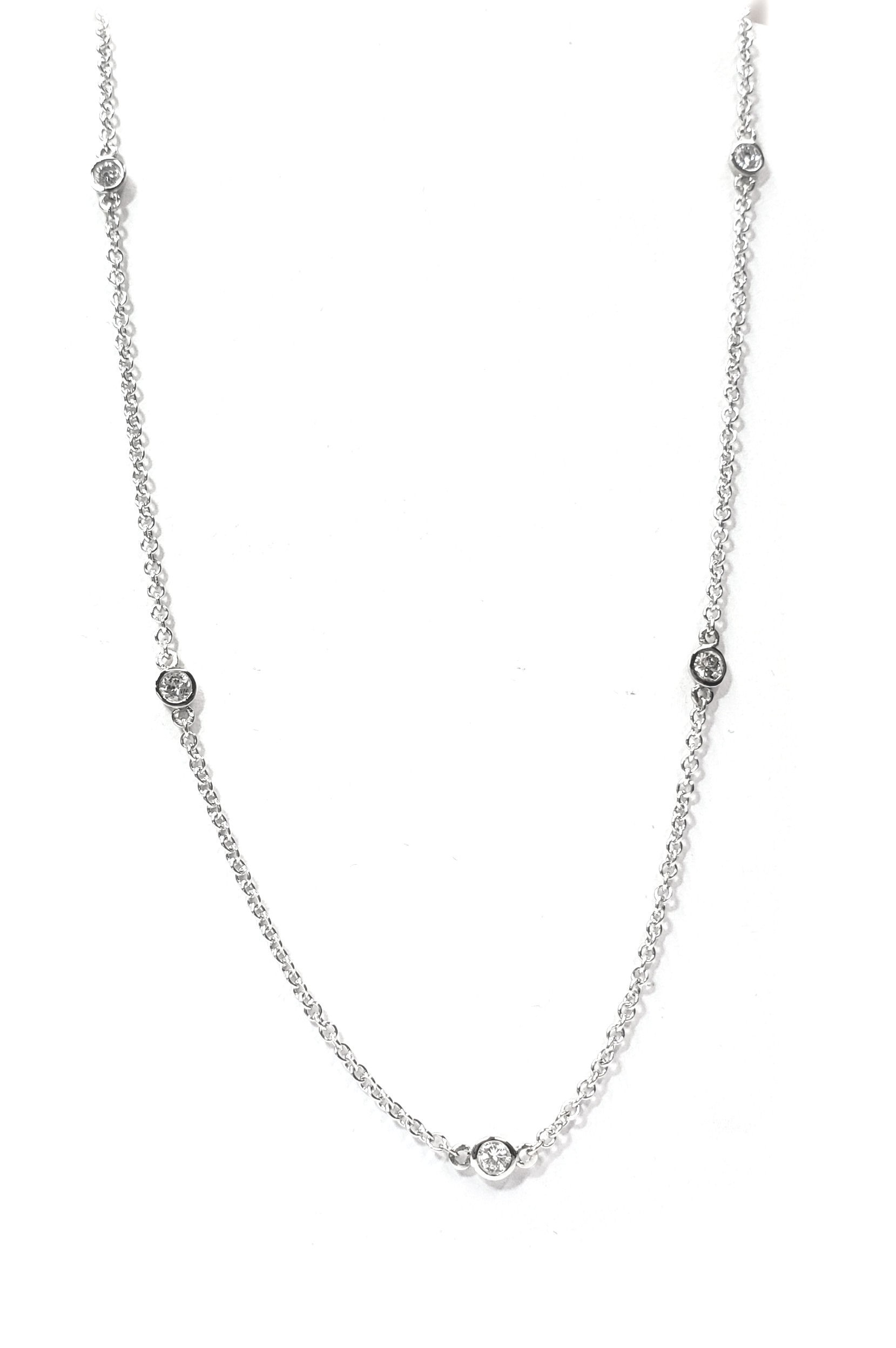 Diamond By The Yard Necklace, 38pts. in 18kt White Gold