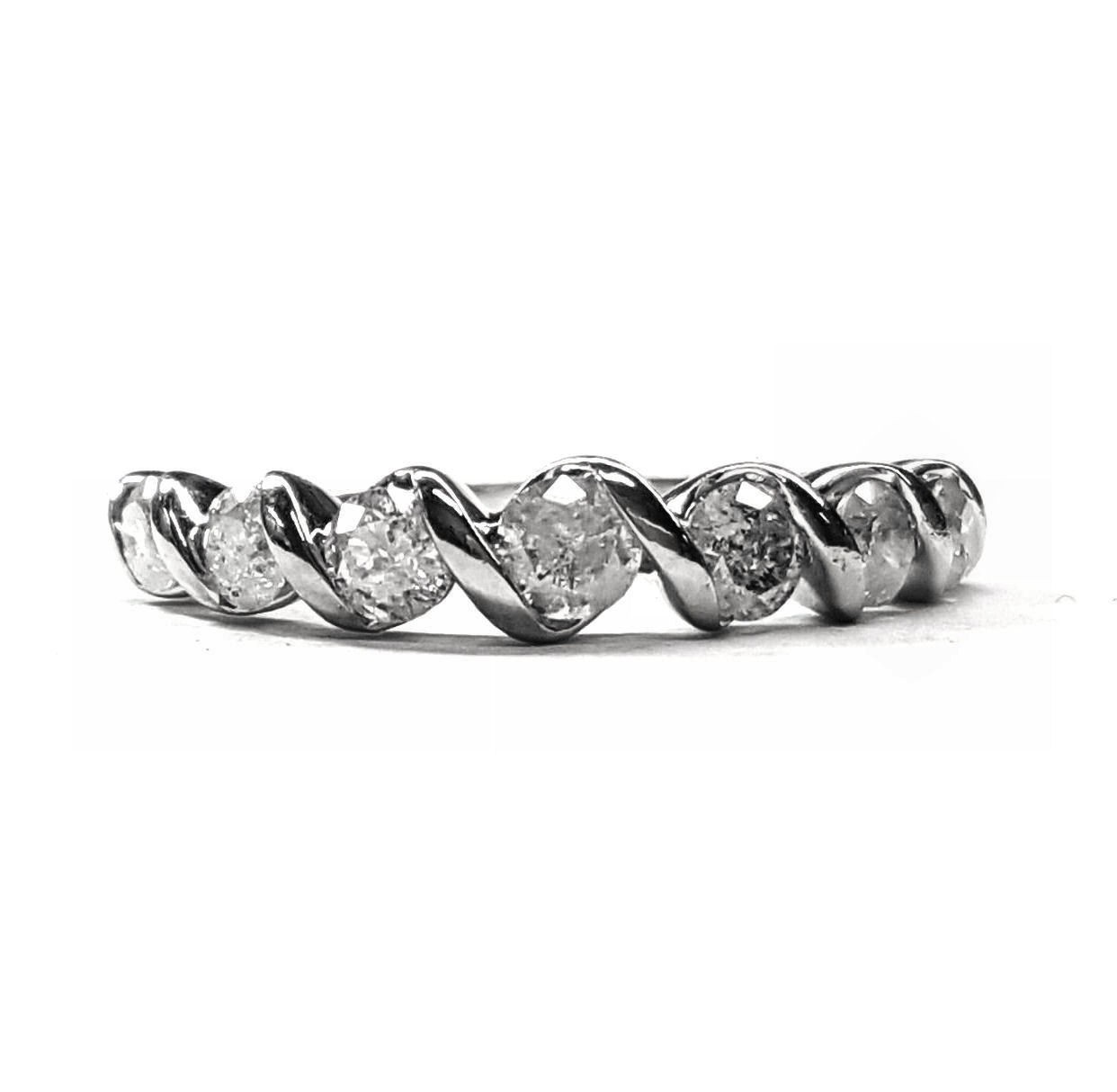 Diamond Band with Tapered Style, 85pts. t.w., 14kt Gold
