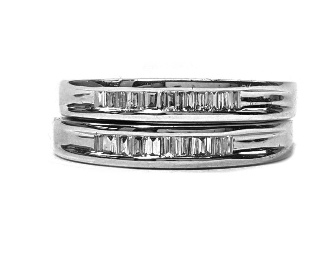 Diamond Wedding Bands, 2 Rings. Channel Set 30pts. t.w.