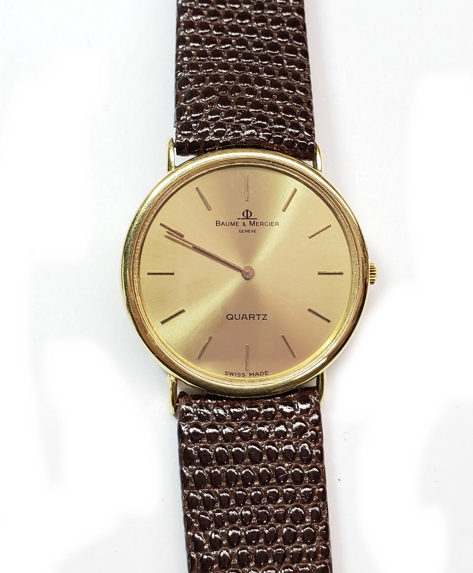 Baum & Mercier 14kt. Gold Watch with Strap, Vintage