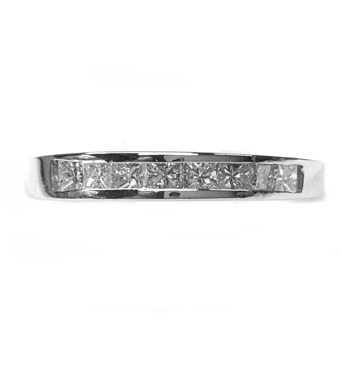 Diamond Wedding Ring with Channel Set  Princess Cuts 36pts. t.w.