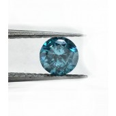 Round Brilliant Blue Diamond 1/3ct. Bright Blue Color