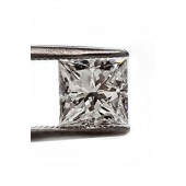 47pt. Princess cut diamond F SI1 quality.