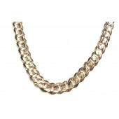 Cuban Link Necklace 93 Grams in 14kt. Yellow Gold