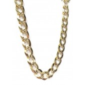 Cuban Link Necklace w/ Design in 14kt. Yellow Gold