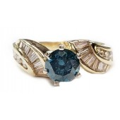 2ct Diamond Engagement Ring Blue Center in 14kt Gold