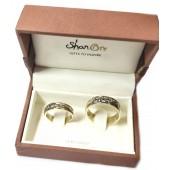 SHAN ORE Irish Claddagh Matching Wedding Bands, in 14kt Gold