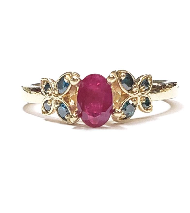 Butterfly Diamond Rings